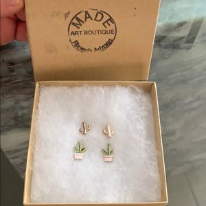 Cactus earring gift pair
